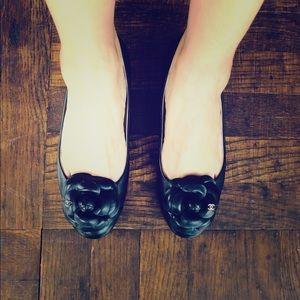Chanel Camellia ballet ballerina flats 36